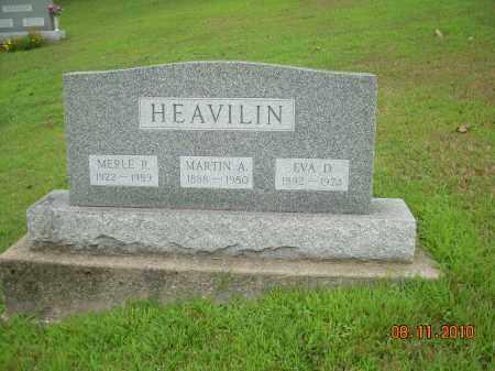HEAVILIN, MARTIN A - Harrison County, Ohio | MARTIN A HEAVILIN - Ohio Gravestone Photos