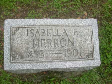 HERRON, ISABELLA E. - Harrison County, Ohio | ISABELLA E. HERRON - Ohio Gravestone Photos