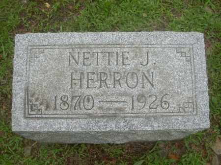 HERRON, NETTIE J. - Harrison County, Ohio | NETTIE J. HERRON - Ohio Gravestone Photos