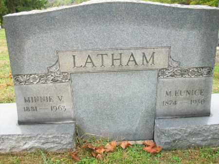 LATHAM, MINNIE V - Harrison County, Ohio | MINNIE V LATHAM - Ohio Gravestone Photos