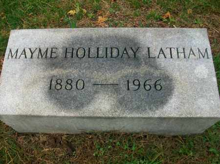 HOLLIDAY LATHAM, MAYME - Harrison County, Ohio | MAYME HOLLIDAY LATHAM - Ohio Gravestone Photos