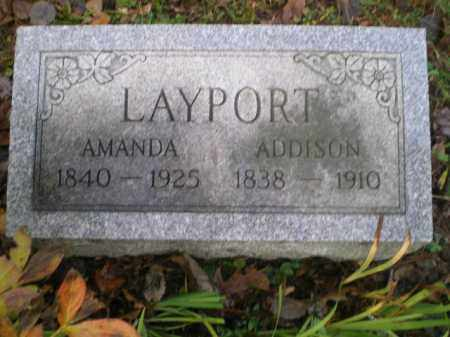 LAYPORT, ADDISON - Harrison County, Ohio | ADDISON LAYPORT - Ohio Gravestone Photos