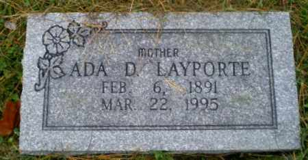 LAYPORTE, ADA D - Harrison County, Ohio | ADA D LAYPORTE - Ohio Gravestone Photos