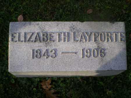 LAYPORTE, ELIZABETH - Harrison County, Ohio | ELIZABETH LAYPORTE - Ohio Gravestone Photos
