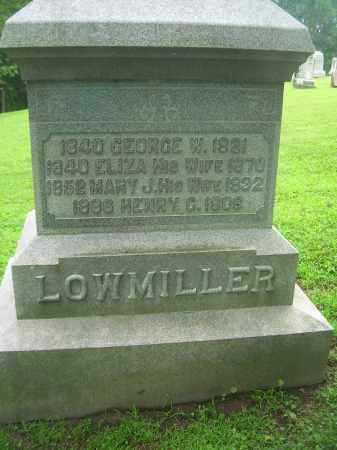LOWMILLER, GEORGE W - Harrison County, Ohio | GEORGE W LOWMILLER - Ohio Gravestone Photos