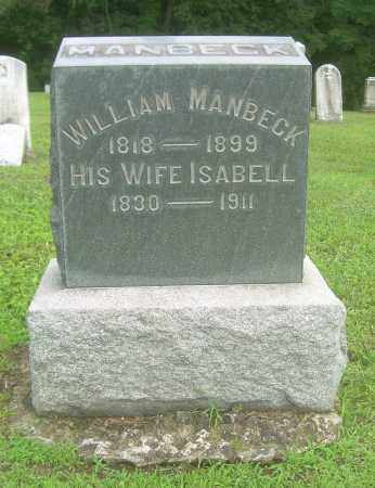 MANBECK, ISABELL - Harrison County, Ohio | ISABELL MANBECK - Ohio Gravestone Photos