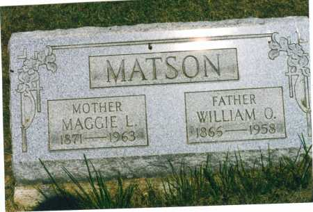 MATSON, WILLIAM O. - Harrison County, Ohio | WILLIAM O. MATSON - Ohio Gravestone Photos