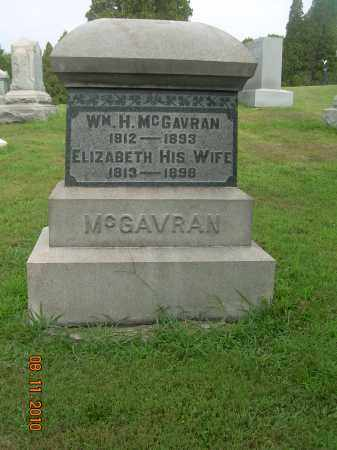BROWN MCGAVRAN, ELIZABETH - Harrison County, Ohio | ELIZABETH BROWN MCGAVRAN - Ohio Gravestone Photos