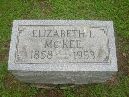 MCKEE, ELIZABETH I. - Harrison County, Ohio | ELIZABETH I. MCKEE - Ohio Gravestone Photos