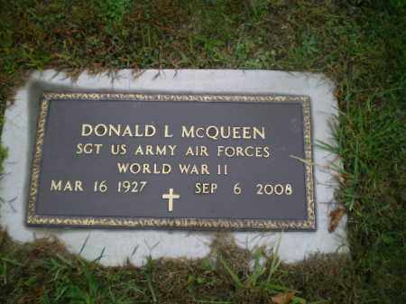 MCQUEEN, DONALD L - Harrison County, Ohio | DONALD L MCQUEEN - Ohio Gravestone Photos
