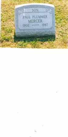 MERCER, PAUL PLUMMER - Harrison County, Ohio   PAUL PLUMMER MERCER - Ohio Gravestone Photos