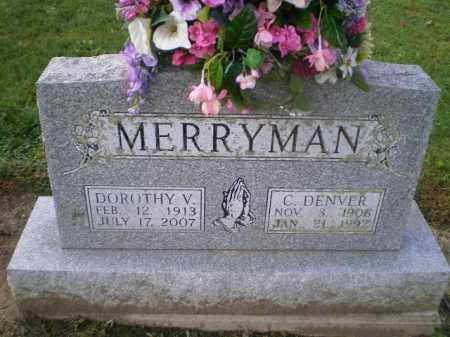 MERRYMAN, DOROTHY VIRGINIA - Harrison County, Ohio | DOROTHY VIRGINIA MERRYMAN - Ohio Gravestone Photos
