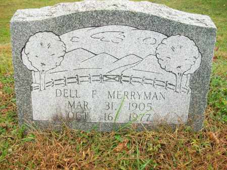 "MERRYMAN, DELBERT FRANK ""DELL"" - Harrison County, Ohio 