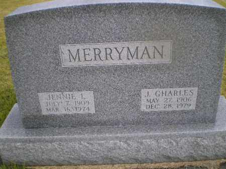 LUCAS MERRYMAN, JENNIE LOUISE - Harrison County, Ohio | JENNIE LOUISE LUCAS MERRYMAN - Ohio Gravestone Photos
