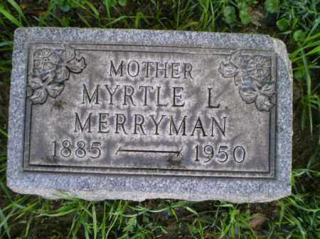 MERRYMAN, MYRTLE LOUISE - Harrison County, Ohio | MYRTLE LOUISE MERRYMAN - Ohio Gravestone Photos
