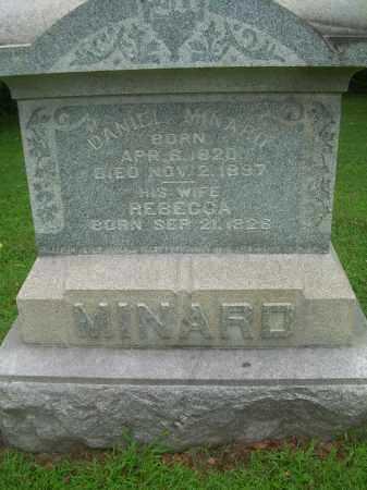 KNOUFF MINARD, REBECCA - Harrison County, Ohio | REBECCA KNOUFF MINARD - Ohio Gravestone Photos