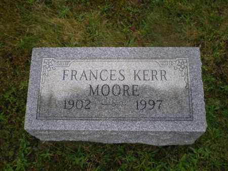 KERR MOORE, FRANCES - Harrison County, Ohio | FRANCES KERR MOORE - Ohio Gravestone Photos