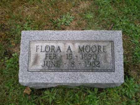 MOORE, FLORA A - Harrison County, Ohio | FLORA A MOORE - Ohio Gravestone Photos