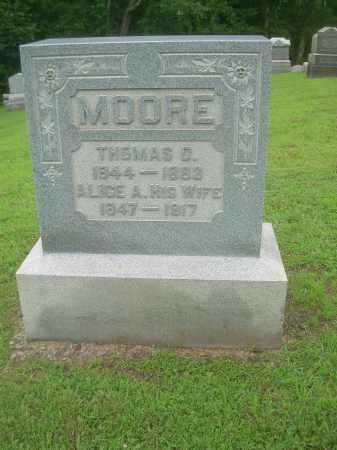 MOORE, THOMAS D. - Harrison County, Ohio | THOMAS D. MOORE - Ohio Gravestone Photos