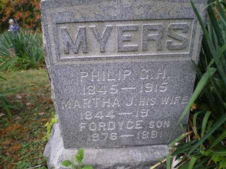 MYERS, PHILIP GEORGE HUFMAN - Harrison County, Ohio | PHILIP GEORGE HUFMAN MYERS - Ohio Gravestone Photos