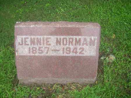 NORMAN, JENNIE - Harrison County, Ohio | JENNIE NORMAN - Ohio Gravestone Photos