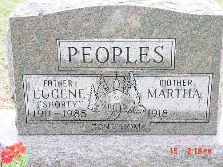 GERINGER PEOPLES, MARTHA - Harrison County, Ohio | MARTHA GERINGER PEOPLES - Ohio Gravestone Photos