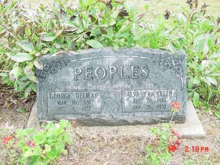 PEOPLES, ALVA - Harrison County, Ohio | ALVA PEOPLES - Ohio Gravestone Photos