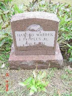 PEOPLES, HAROLD WARREN, JR - Harrison County, Ohio | HAROLD WARREN, JR PEOPLES - Ohio Gravestone Photos