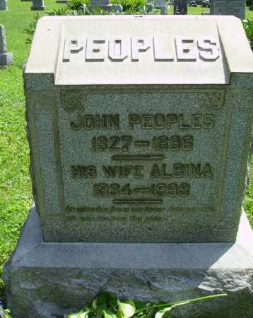PEOPLES, JOHN - Harrison County, Ohio | JOHN PEOPLES - Ohio Gravestone Photos