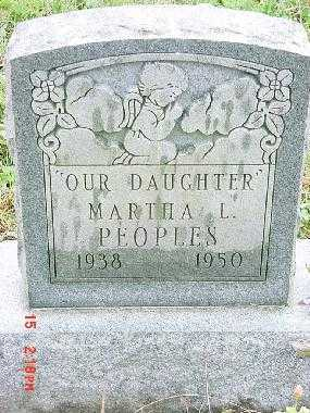 PEOPLES, MARTHA - Harrison County, Ohio | MARTHA PEOPLES - Ohio Gravestone Photos