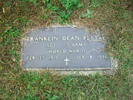 PETTAY, FRANKLIN DEAN - Harrison County, Ohio | FRANKLIN DEAN PETTAY - Ohio Gravestone Photos