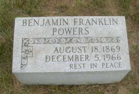 POWERS, BENJAMIN FRANKLIN - Harrison County, Ohio | BENJAMIN FRANKLIN POWERS - Ohio Gravestone Photos