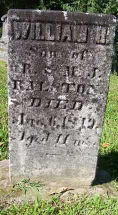 RALSTON, WILLIAM H - Harrison County, Ohio | WILLIAM H RALSTON - Ohio Gravestone Photos