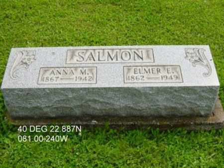 SALMON, ELMER ELSWORTH - Harrison County, Ohio | ELMER ELSWORTH SALMON - Ohio Gravestone Photos