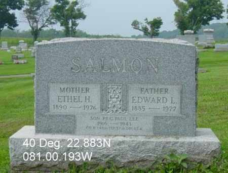 SALMON, EDWARD L. - Harrison County, Ohio | EDWARD L. SALMON - Ohio Gravestone Photos