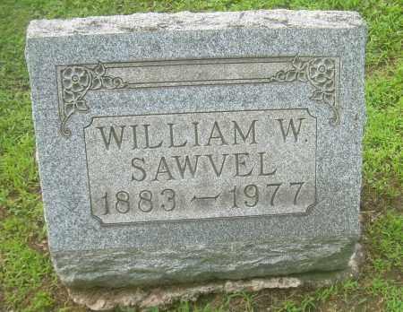 SAWVEL, WILLIAM W - Harrison County, Ohio | WILLIAM W SAWVEL - Ohio Gravestone Photos
