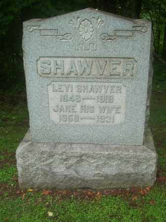 SHAWVER, JANE - Harrison County, Ohio | JANE SHAWVER - Ohio Gravestone Photos