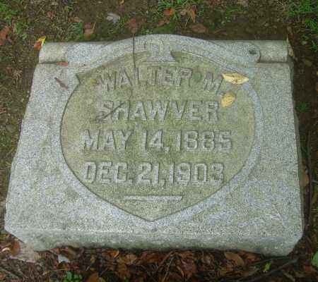 SHAWVER, WALTER M - Harrison County, Ohio | WALTER M SHAWVER - Ohio Gravestone Photos