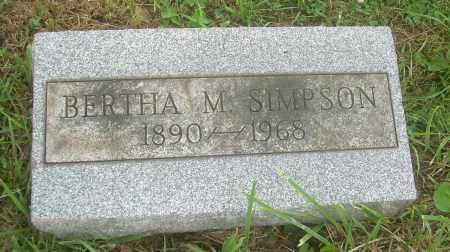 STEPHENS SIMPSON, BERTHA M - Harrison County, Ohio | BERTHA M STEPHENS SIMPSON - Ohio Gravestone Photos