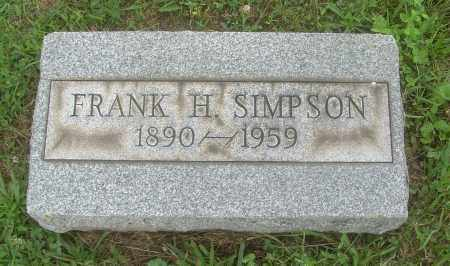SIMPSON, FRANK H - Harrison County, Ohio | FRANK H SIMPSON - Ohio Gravestone Photos