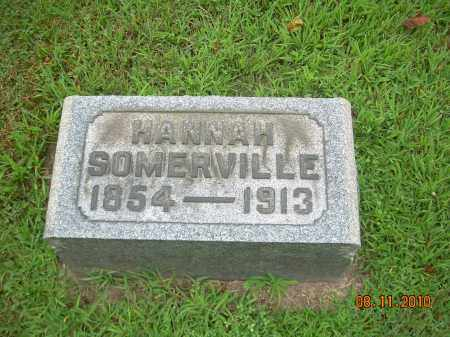 SOMERVILLE, HANNAH - Harrison County, Ohio | HANNAH SOMERVILLE - Ohio Gravestone Photos