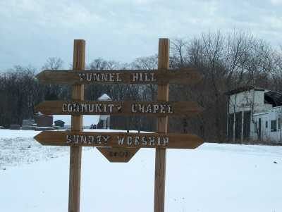 TUNNEL HILL, SIGN - Harrison County, Ohio | SIGN TUNNEL HILL - Ohio Gravestone Photos