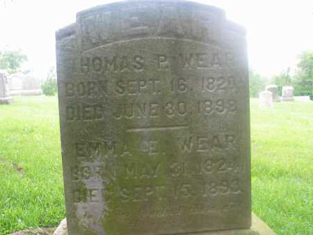 STEWART WEAR, EMMA ELIZABETH - Harrison County, Ohio | EMMA ELIZABETH STEWART WEAR - Ohio Gravestone Photos