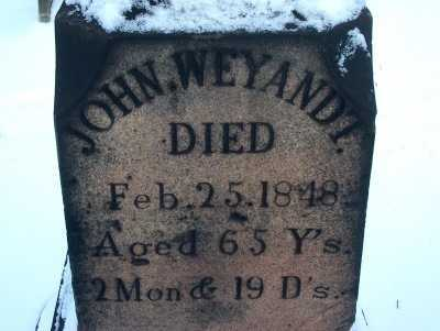 WEYANDT, JOHN - Harrison County, Ohio | JOHN WEYANDT - Ohio Gravestone Photos