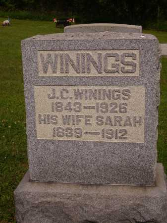 WININGS, SARAH - Harrison County, Ohio | SARAH WININGS - Ohio Gravestone Photos