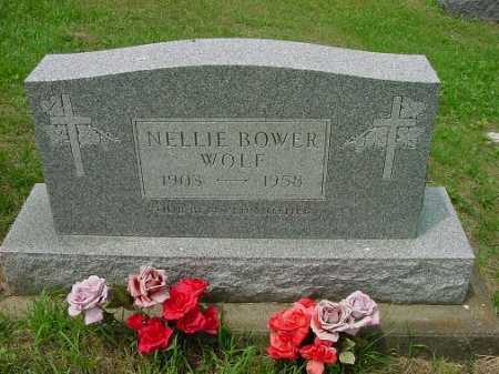BOWER WOLF, NELLIE - Harrison County, Ohio | NELLIE BOWER WOLF - Ohio Gravestone Photos