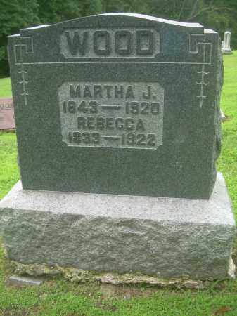 WOOD, REBECCA - Harrison County, Ohio | REBECCA WOOD - Ohio Gravestone Photos