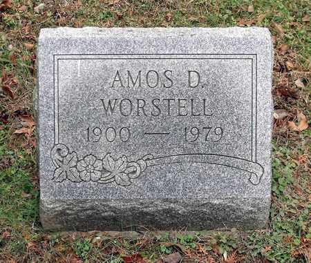 WORSTELL, AMOS D. - Harrison County, Ohio | AMOS D. WORSTELL - Ohio Gravestone Photos