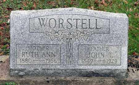 WORSTELL, RUTH ANN - Harrison County, Ohio | RUTH ANN WORSTELL - Ohio Gravestone Photos