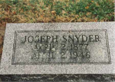 SNYDER, JOSEPH - Henry County, Ohio | JOSEPH SNYDER - Ohio Gravestone Photos